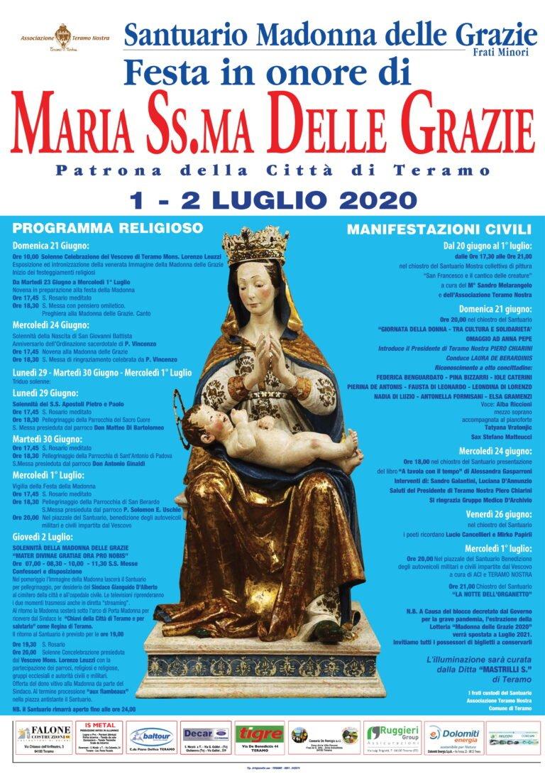 Teramo: i festeggiamenti in onore della Madonna delle Grazie all'aperto e in sicurezza