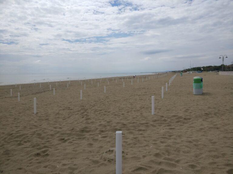 Tortoreto, spiagge libere al tempo del Covid: allestito il tratto sud