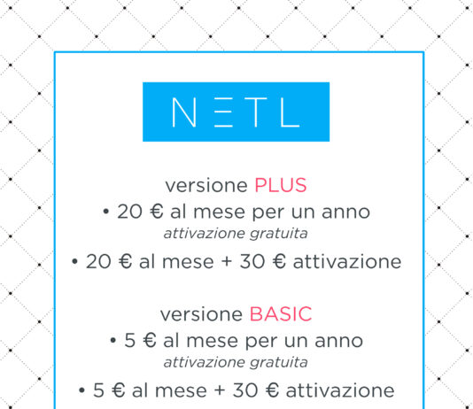 NETL menu digitale