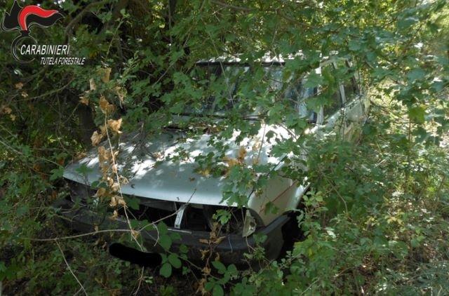 Scoperti veicoli abbandonati, proprietari sanzionati. Intervento della Forestale stazioni di Gissi, Vasto e Lanciano