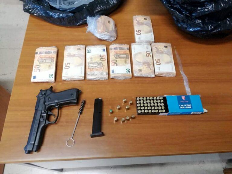 Pescara, pistola e 38mila euro ritrovati vicino alla ferrovia