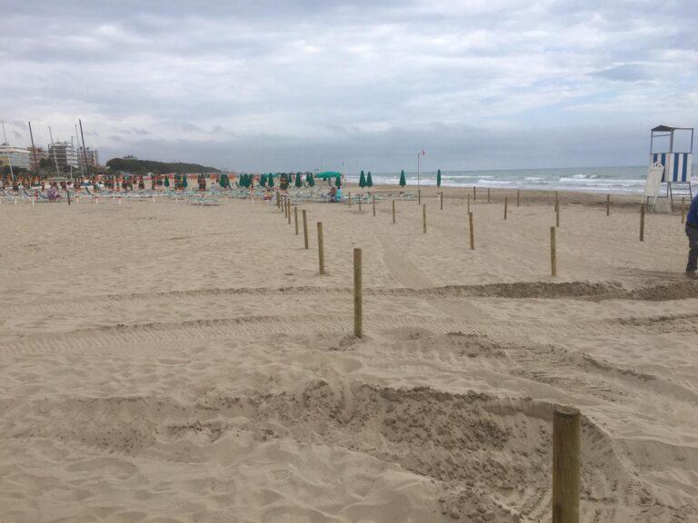 Alba Adriatica, spiagge libere al tempo del Covid: iniziato l'allestimento