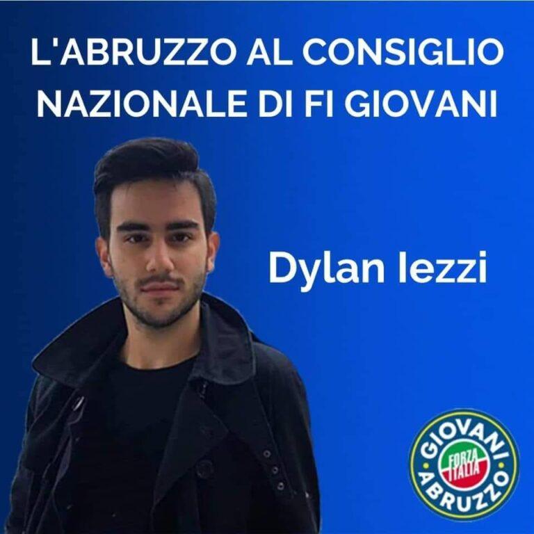 Mosciano, Dylan Iezzi nel Consiglio Nazionale di Forza Italia Giovani