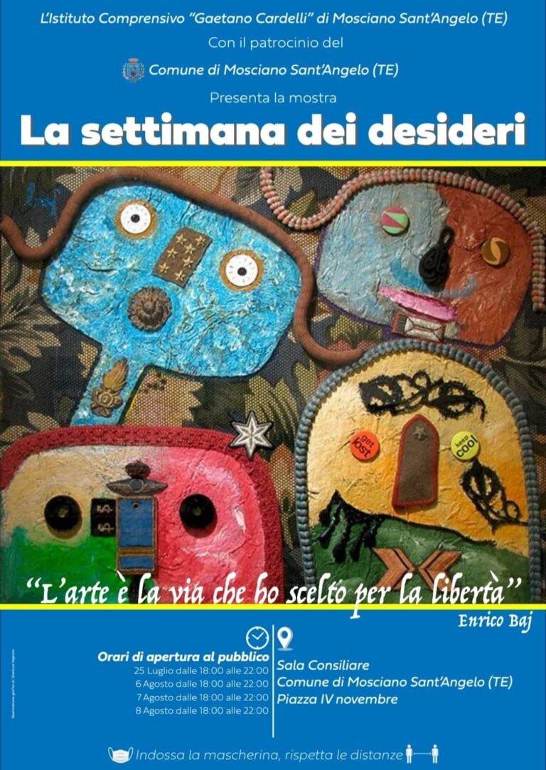 'La settimana dei desideri' a Mosciano: mostra dei disegni realizzati dagli alunni durante il lockdown