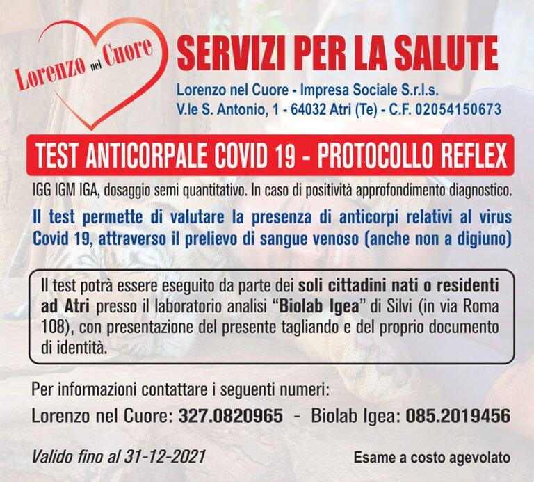 Atri, giornata prevenzione relativa al Virus Covid-19 con esami anticorpali