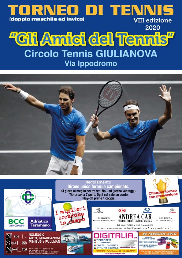 Riparte alla grande il Circolo Tennis Giulianova. Appello all'amministrazione per due nuovi campi