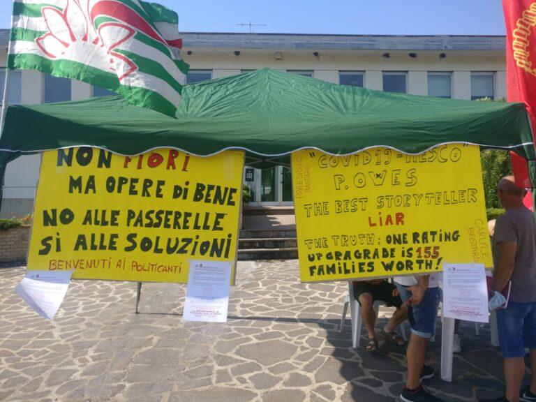 Tortoreto, vertenza Betafence: presidio dei lavoratori sulla rotonda Carducci