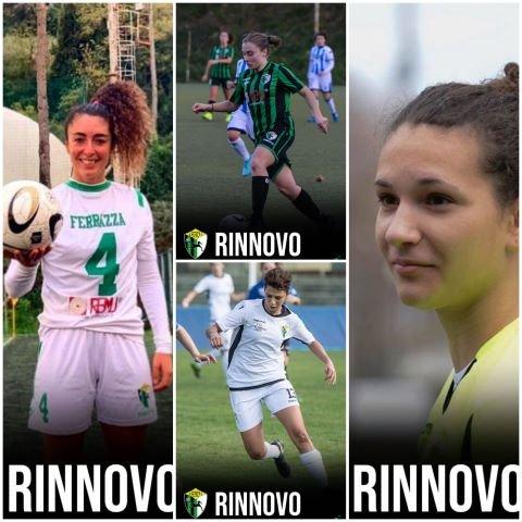 Chieti Calcio Femminile, altre conferme per la nuova stagione: Falcocchia, Ferrazza, Benedetti e Gangemi