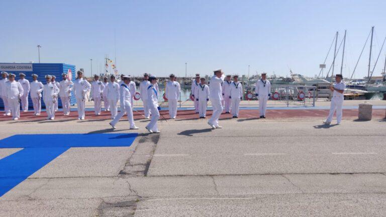 Giulianova, cerimonia di insediamento del nuovo comandante della Guardia Costiera Daniela Sutera FOTO/VIDEO