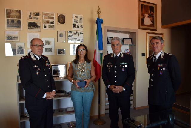 Chieti, visita del prefetto di L'Aquila al Comando Legione Carabinieri Abruzzo e Molise