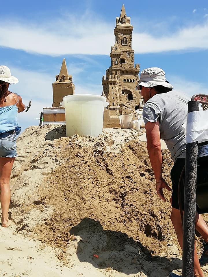 Giulianova, Castelli di sabbia sul Lungomare  FOTO/VIDEO