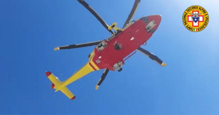 Accusa un malore sul sentiero: soccorso con l'elicottero a Nerito di Crognaleto