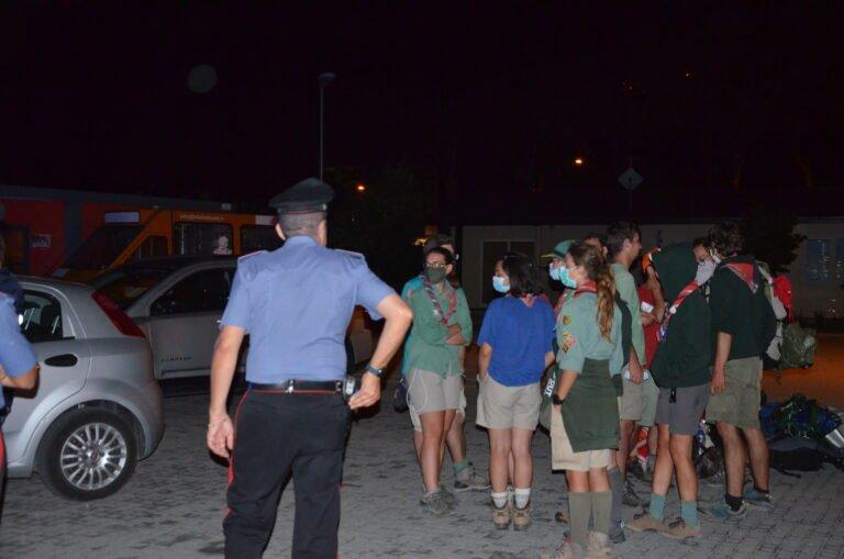 Carabinieri mettono in salvo un gruppo di scout a L'Aquila