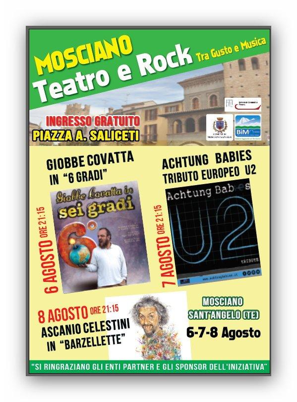 Mosciano Teatro e Rock: tre giorni di eventi di qualità