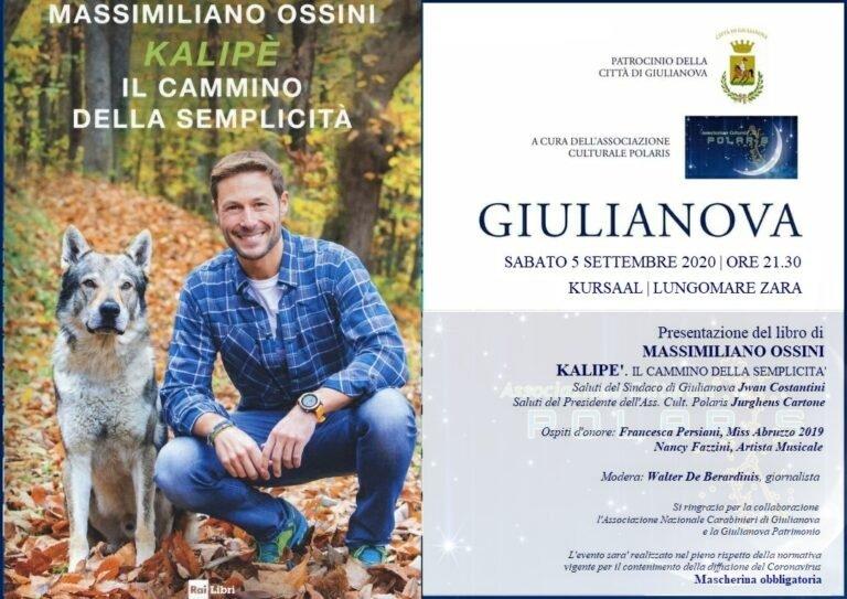 Giulianova, Massimiliano Ossini presenta il nuovo libro al Kursaal