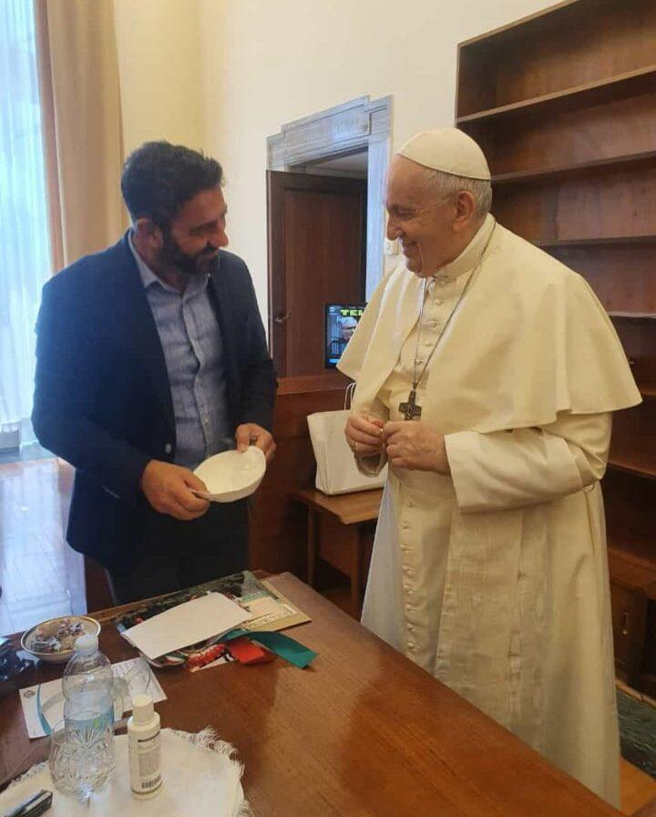 Cittadino di Basciano ricevuto in udienza privata da Papa Francesco FOTO