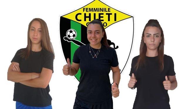 Chieti Calcio Femminile ancora attivissimo sul mercato: prese Alessia Stivaletta, Giovanna Dibenedetto e Giulia Colavolpe