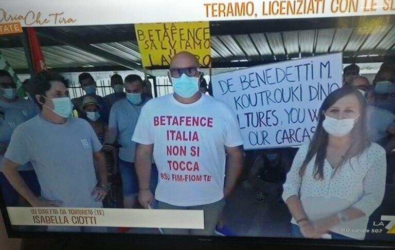 Tortoreto, vertenza Betafence: il ministero convoca la riunione in video-conferenza. Protestano i sindacati