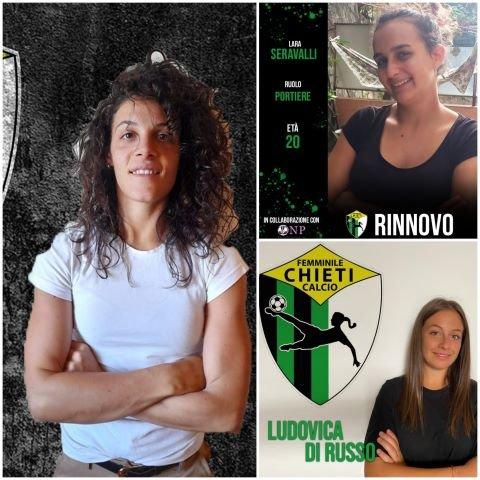 Per il Chieti Calcio Femminile altri due nuovi arrivi e un'altra conferma