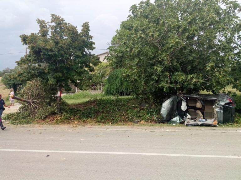 Sant'Omero, spaventoso incidente sulla Bonifica: automobilista soccorso dall'elicottero