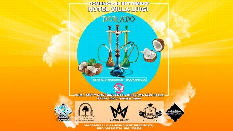 DOMENICA 6 SETTEMBRE: pool Party al VILLA LUIGI