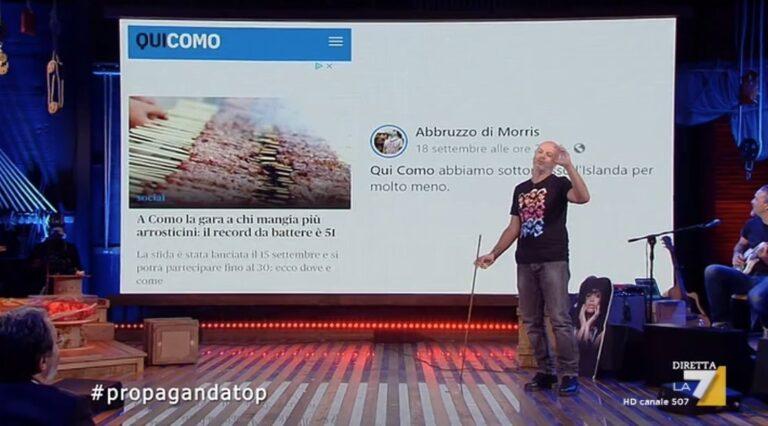 Gara di arrosticini a Como: la 'trollata' abruzzese finisce su Propaganda Live VIDEO