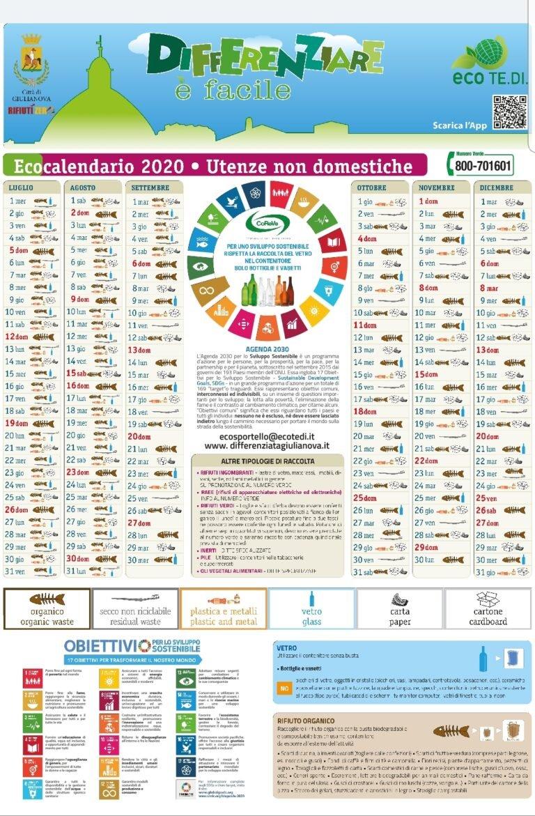 Giulianova, torna il calendario invernale per la raccolta differenziata delle utenze non domestiche