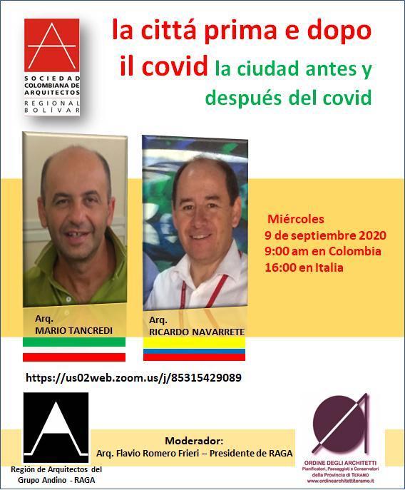 """Teramo, """"La città prima e dopo il Covid"""": webinar italo-colombiano dell'Ordine degli Architetti"""
