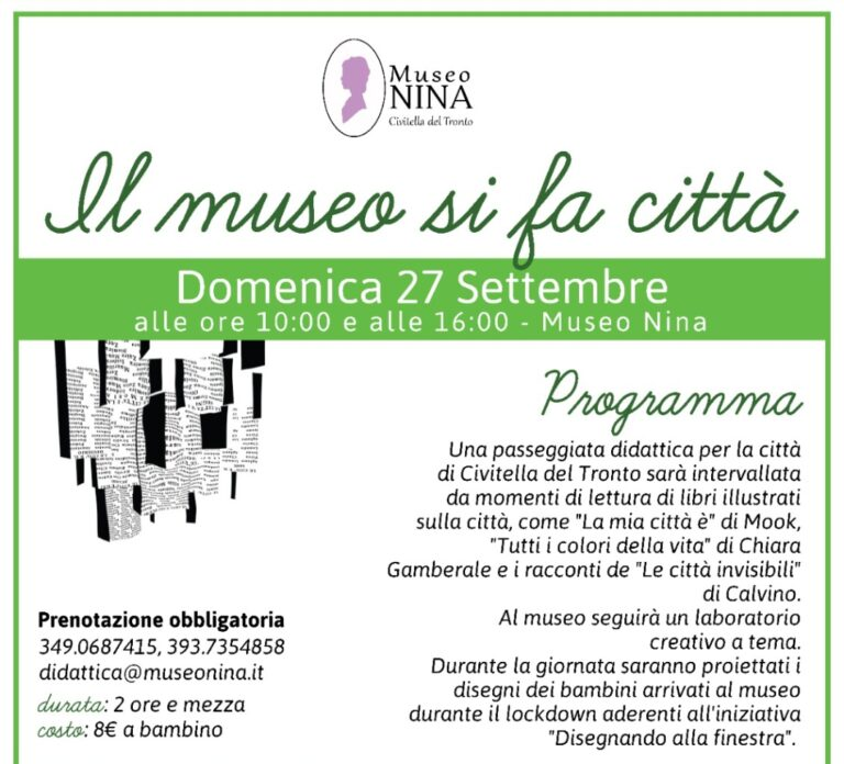 """Civitella del Tronto, """"Il museo si fa città"""" con letture e laboratori"""