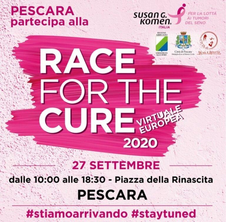Prevenzione tumori al seno: a Pescara la Race for the Cure Virtuale Europa 2020