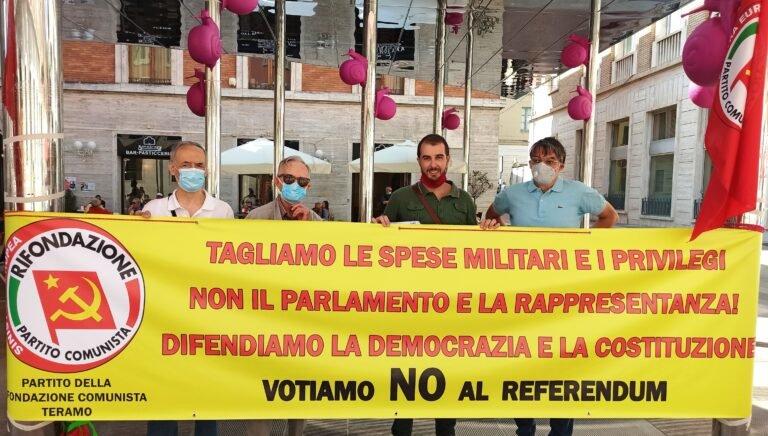 Teramo, Rifondazione Comunista dice No al Referendum: 'non tagliamo la democrazia'