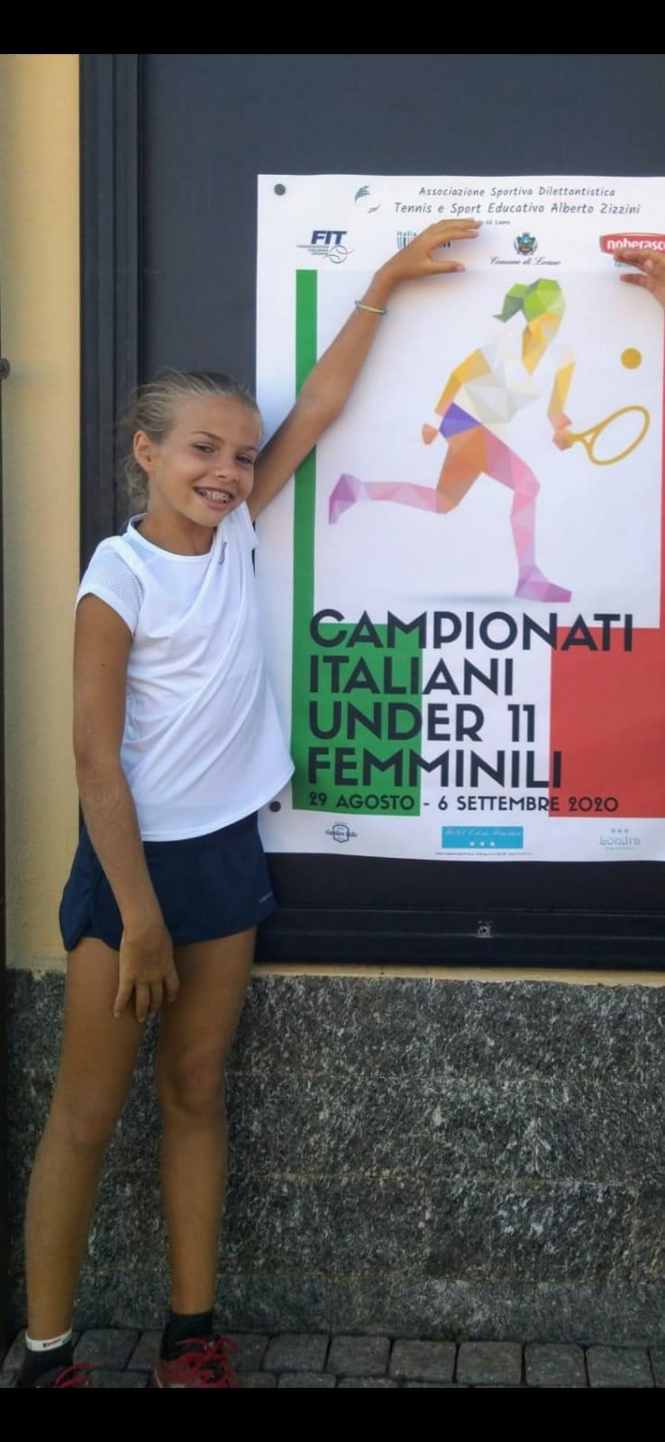 Giulianova, Sara La Noce in semifinale ai Campionati Italiani Under 11 femminili di Tennis
