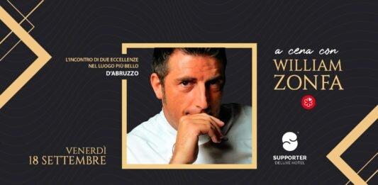a cena con william zonfa supporter hotel fossacesia