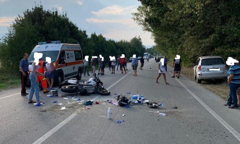 Sant'Omero, schianto sulla bonifica: motociclista in gravissime condizioni
