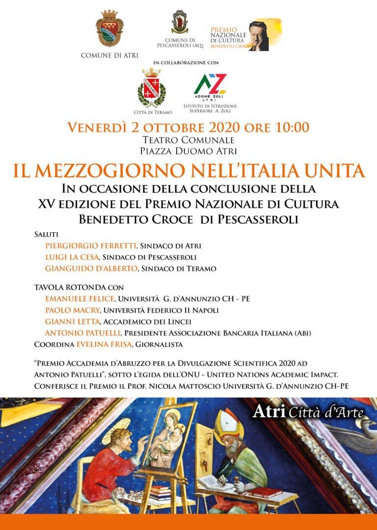 Ad Atri convegno per la conclusione del Premio Nazionale di Cultura Benedetto Croce