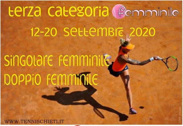 Tennis, a Chieti i Campionati Italiani Femminili di Terza Categoria