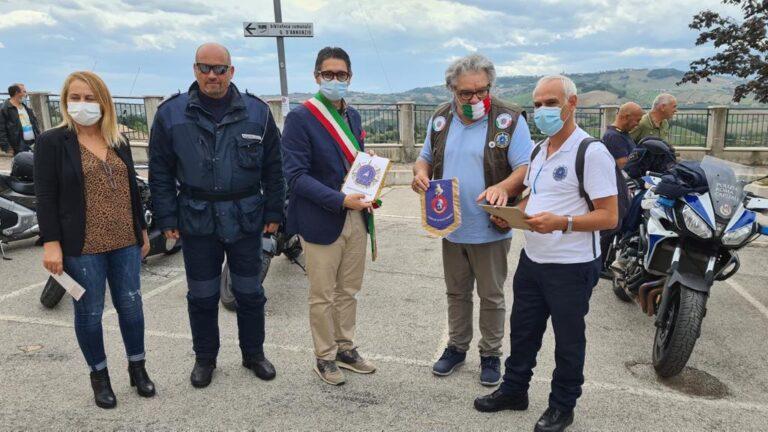 Motoraduno delle polizie locali: la carovana fa tappa a Sant'Omero