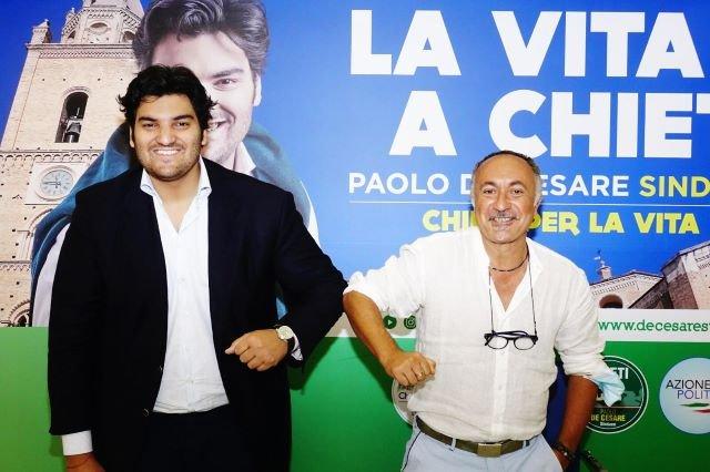 Il coreografo internazionale Giorgio Mancini a sostegno di Paolo De Cesare: 'Sono convinto sarà capace di rendere Chieti una città attrattiva'