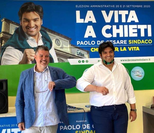 Elezioni Chieti, Paolo De Cesare incassa il pubblico sostegno del presidente regionale del Codacons Vittorio Ruggieri