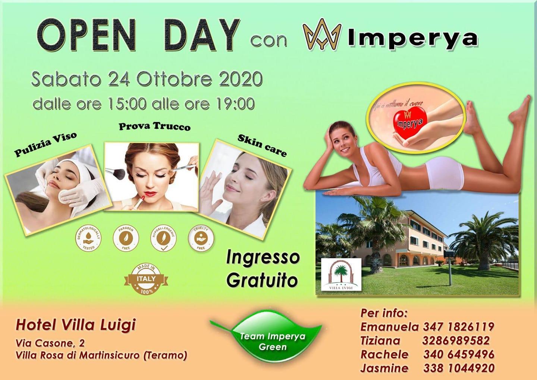Sabato 24 OTTOBRE al VILLA LUIGI open day con Imperya