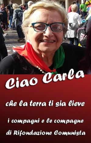 Muore Carla Nespolo, presidente dell'Anpi: il cordoglio di Rifondazione Comunista Teramo
