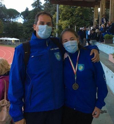 Atletica Teramo: Erika Foresi sfiora il podio ai Tricolori U.16