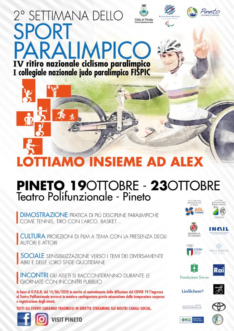 A Pineto torna la Settimana dello sport paralimpico: il ritiro sarà dedicato a Zanardi