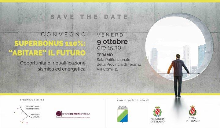 Teramo, Superbonus 110%: convegno nazionale con la partecipazione del commissario Legnini