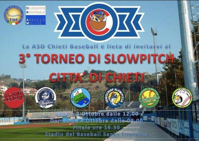 Chieti capitale del Softball con la terza edizione del Torneo di Slowpitch