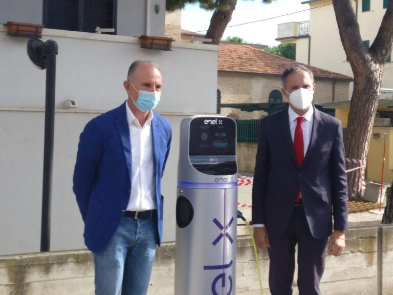 Tortoreto, ricarica per le auto elettriche: inaugurate in via Piave le prime colonnine FOTO VIDEO
