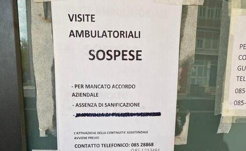 "Pescara: ""Niente sanificazione, Guardia Medica chiusa"""