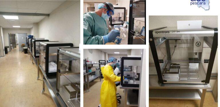 Coronavirus: a Pescara macchinario per 3500 tamponi al giorno