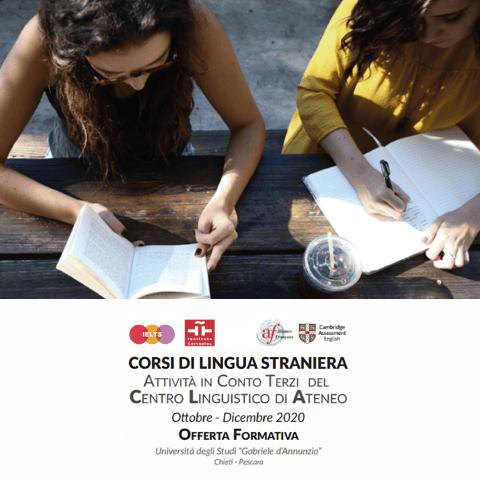 All'Università Gabriele d'Annunzio corsi di preparazione alle certificazioni linguistiche