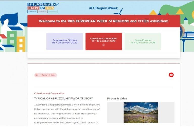 Tipico d'Abruzzo: il progetto di comunicazione della Regione selezionato in Europa
